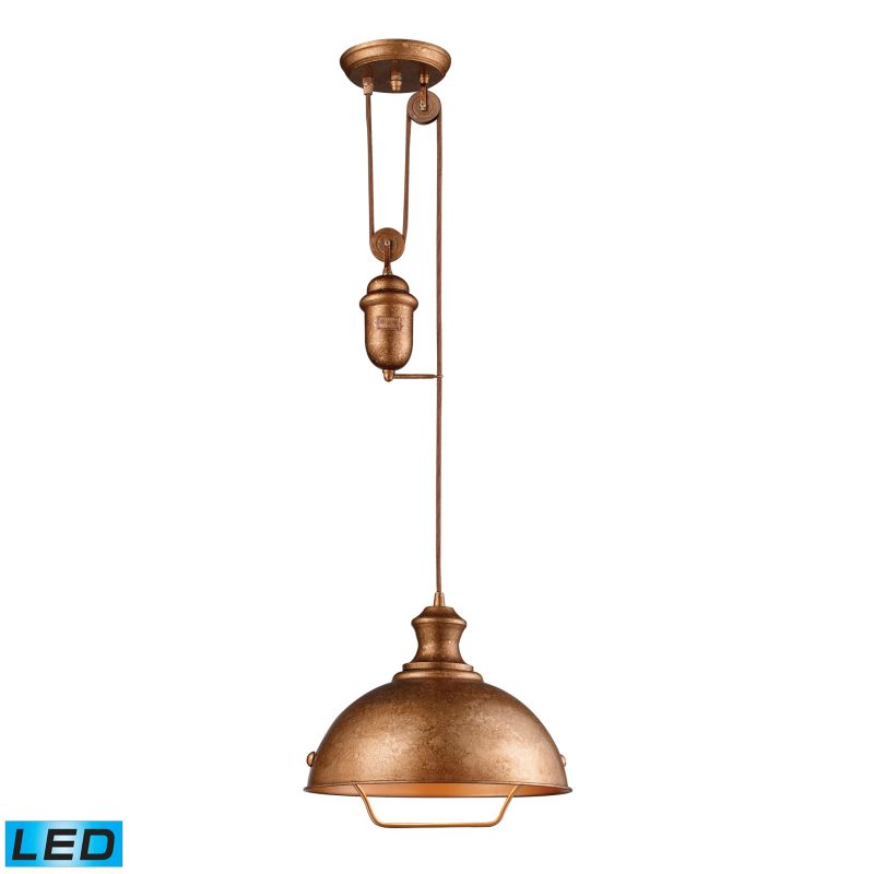 "Elk Lighting 65061-1-LED Farmhouse Single Light 14"" Wide LED Pendant"