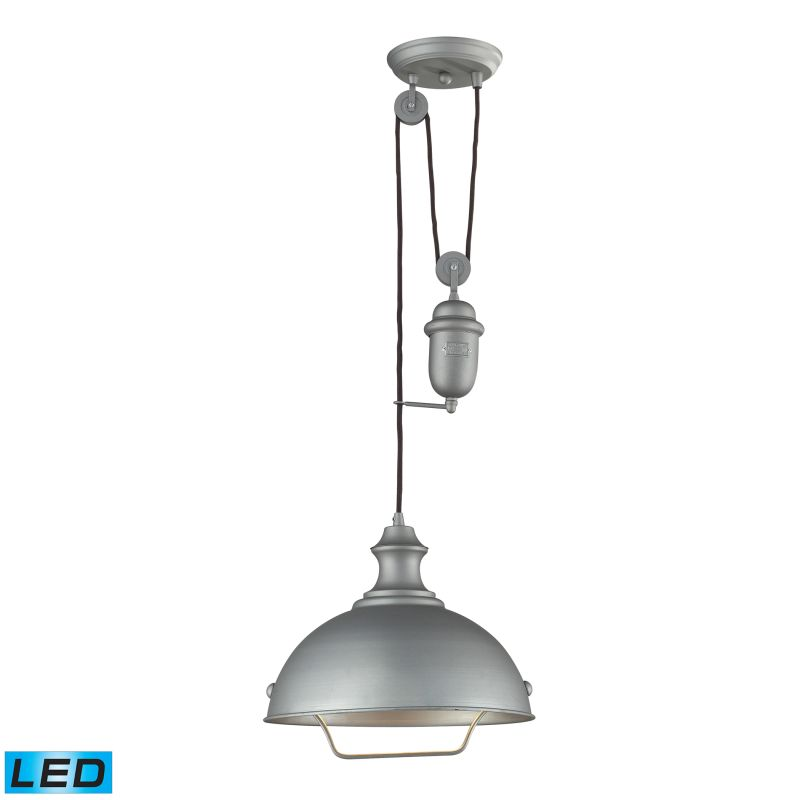 "Elk Lighting 65081-1-LED Farmhouse Single Light 14"" Wide LED Pendant"
