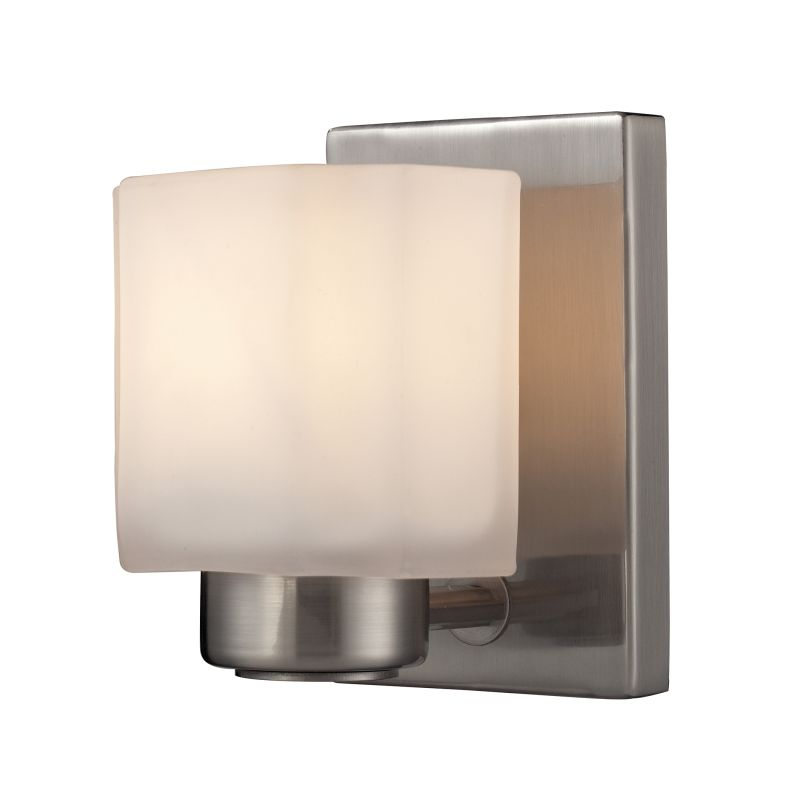 Elk Lighting 66185/1 New Haven 1 Light Bathroom Sconce Brushed Nickel Sale $90.00 ITEM: bci2615195 ID#:66185/1 UPC: 748119088556 :