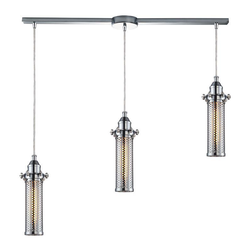 "Elk Lighting 66315/3L Fulton 3 Light 36"" Wide Linear Pendant with"