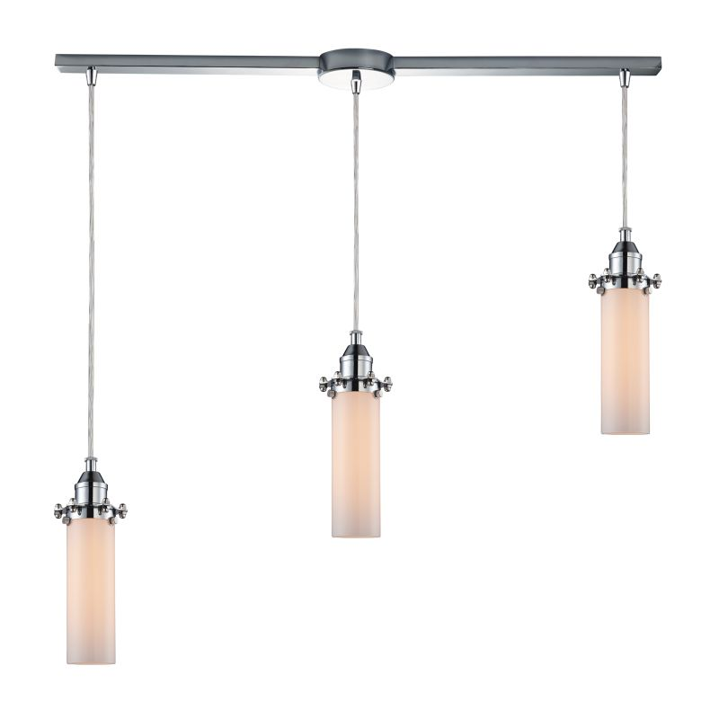 "Elk Lighting 66316/3L Fulton 3 Light 36"" Wide Linear Pendant with"