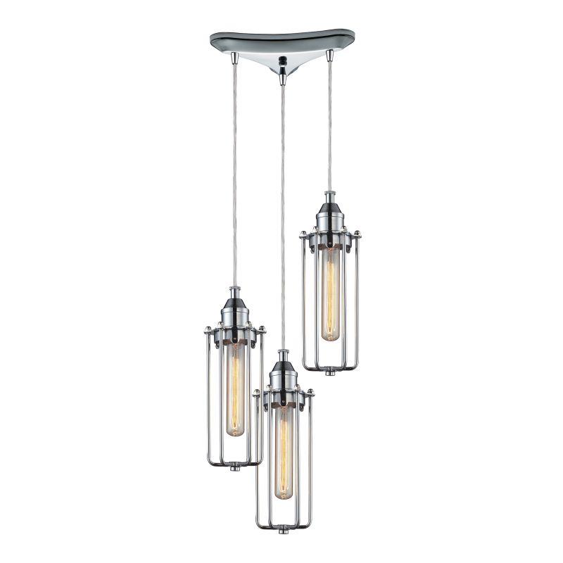 "Elk Lighting 66317/3 Fulton 3 Light 10"" Wide Multi Light Pendant with"