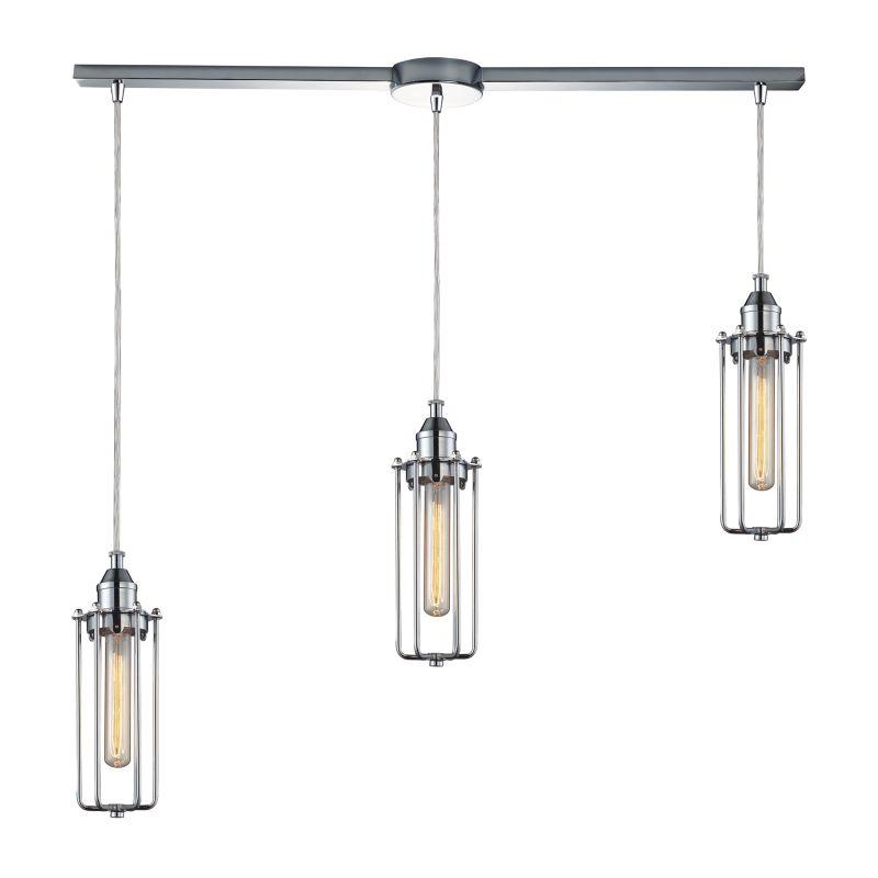 "Elk Lighting 66317/3L Fulton 3 Light 36"" Wide Linear Pendant with"