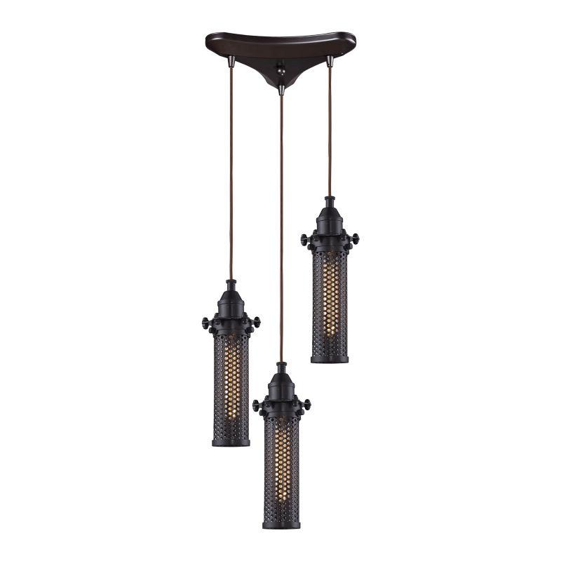 Elk Lighting 66325/3 Fulton 3 Light Pendant Oil Rubbed Bronze Indoor