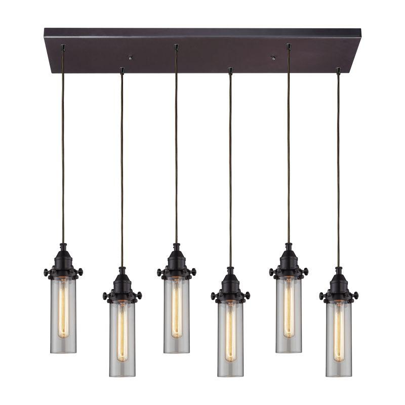 Elk Lighting 66326/6RC Fulton 6 Light Pendant Oil Rubbed Bronze Indoor