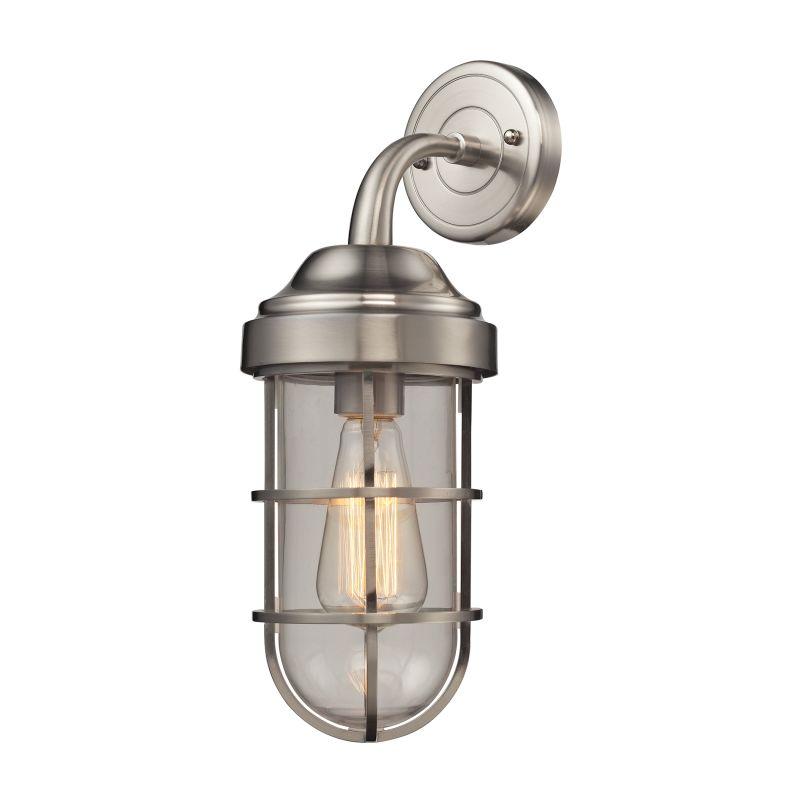 Elk Lighting 66355/1 Seaport 1 Light Wall Sconce Satin Nickel Indoor Sale $190.00 ITEM: bci2615225 ID#:66355/1 UPC: 748119089027 :