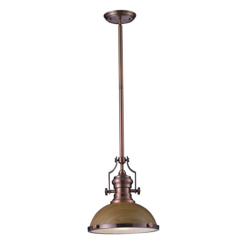 Elk Lighting 66544-1 Chadwick 1 Light Pendant Antique Copper Indoor