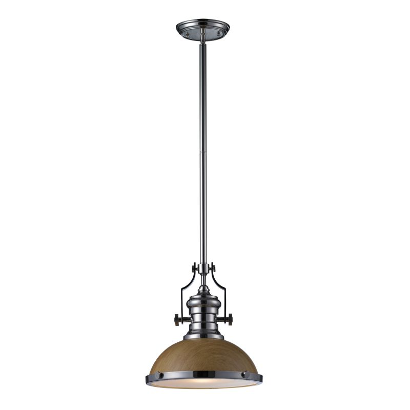 Elk Lighting 66564-1 Chadwick 1 Light Pendant Polished Nickel Indoor