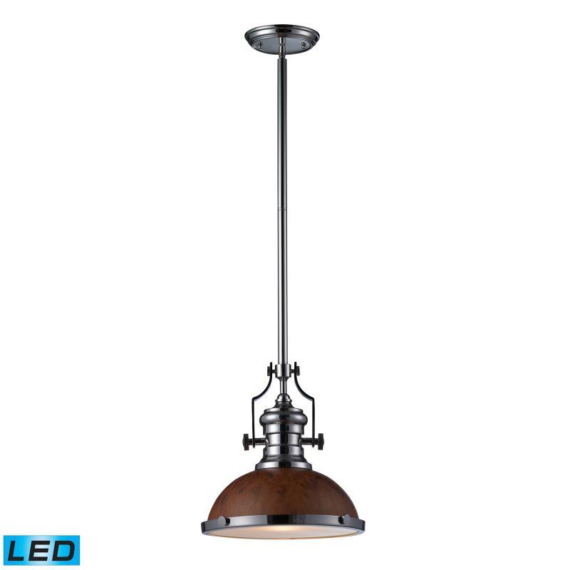 Elk Lighting 66565-1-LED Chadwick 1 Light LED Pendant Polished Nickel