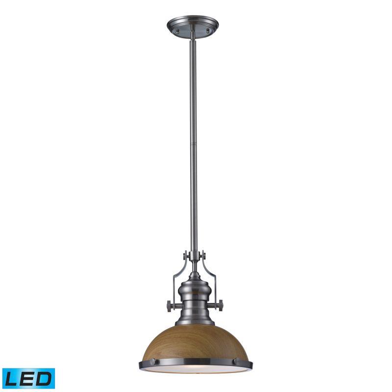 Elk Lighting 66574-1-LED Chadwick 1 Light LED Pendant Satin Nickel Sale $252.00 ITEM: bci2583278 ID#:66574-1-LED UPC: 830335021087 :