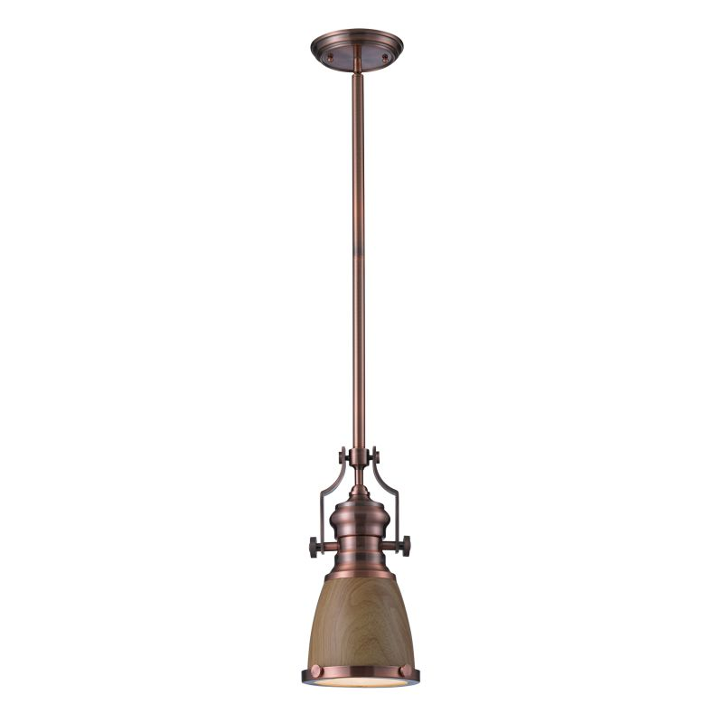 Elk Lighting 66712-1 Chadwick 1 Light Pendant Antique Copper Indoor