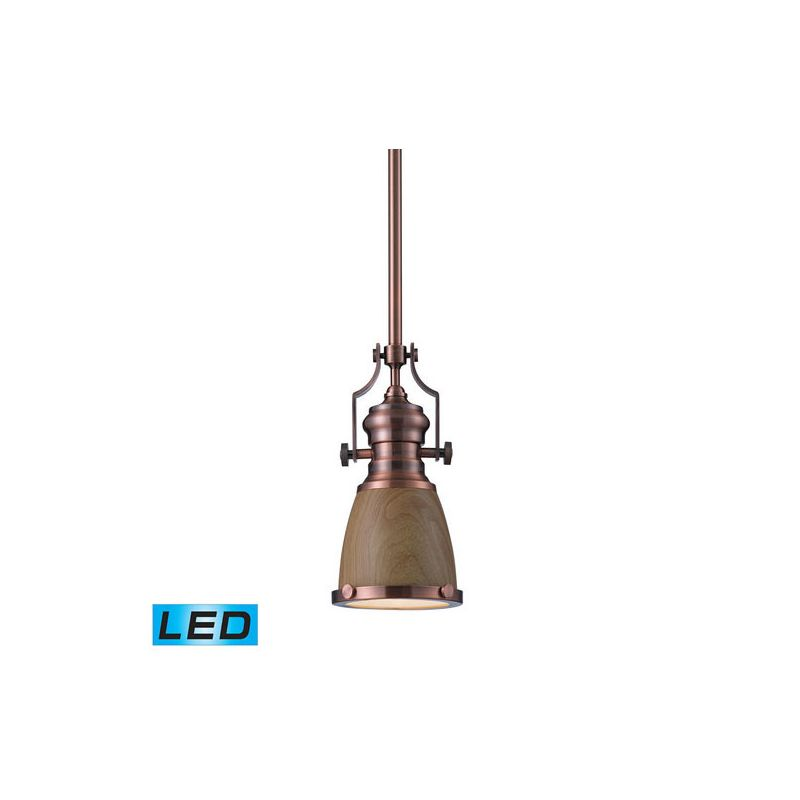 Elk Lighting 66712-1-LED Chadwick 1 Light LED Pendant Antique Copper