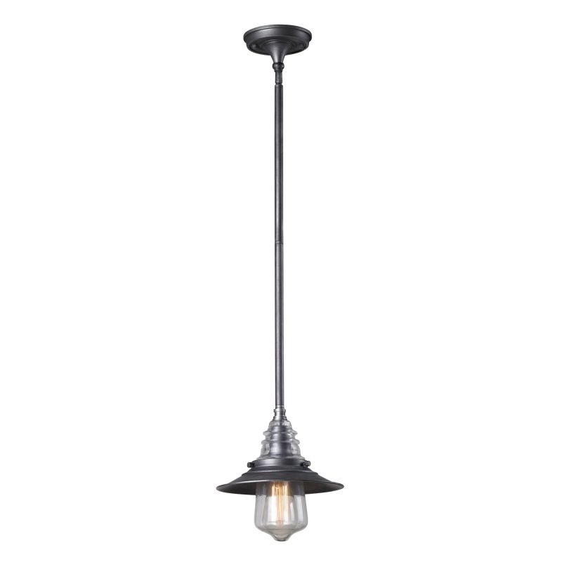 "Elk Lighting 66827-1 Insulator Glass Single Light 9"" Wide Mini Pendant"