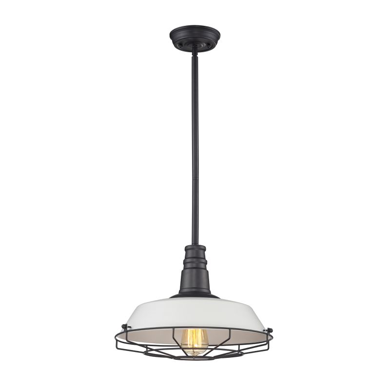 "Elk Lighting 67045/1 Warehouse Pendant Single Light 15"" Wide Pendant"