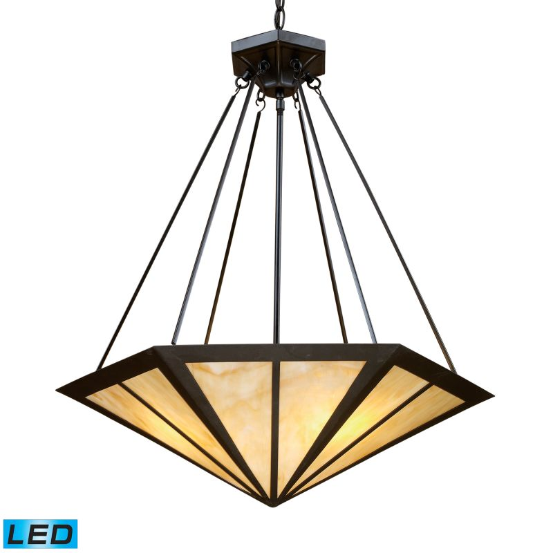 Elk Lighting 70107-3-LED Oak Park 3 Light LED Pendant Tiffany Bronze