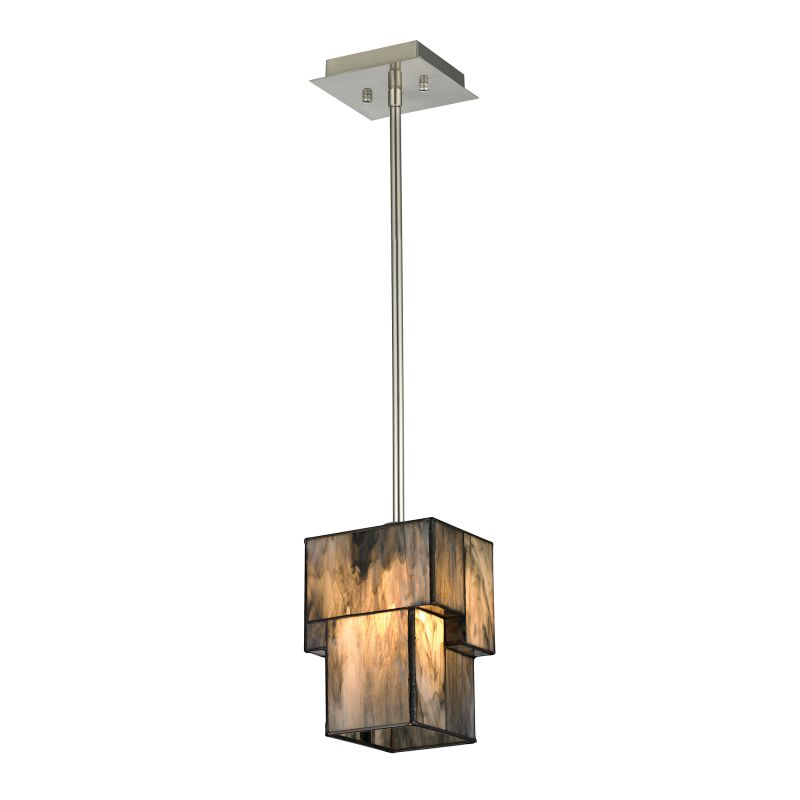 "Elk Lighting 72072-1 Cubist Single Light 5"" Wide Mini Pendant with"