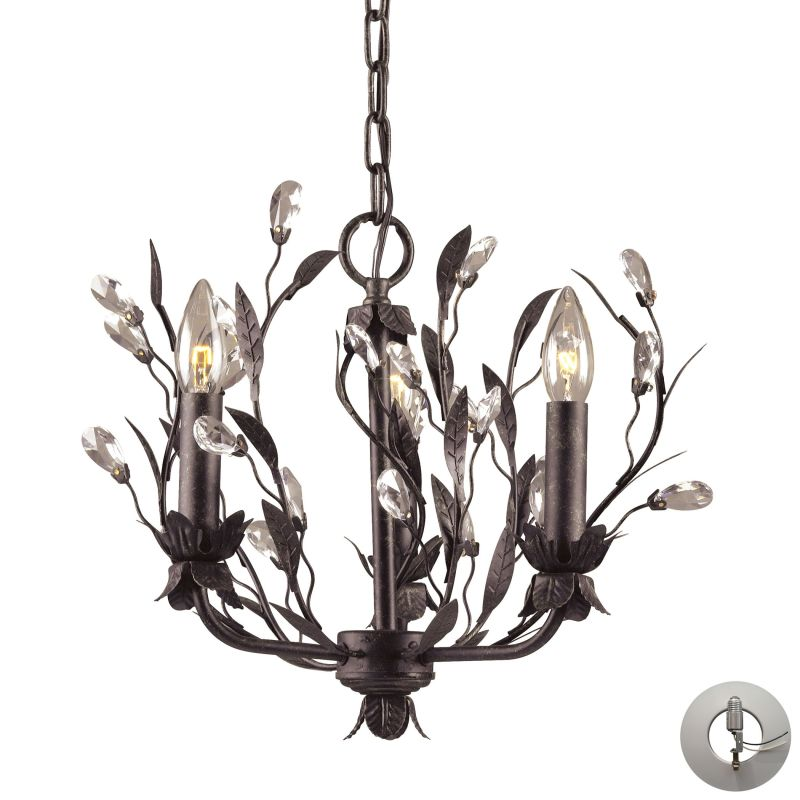 Elk Lighting 8058/3-LA 3 Light 1 Tier Chandelier From The Circeo