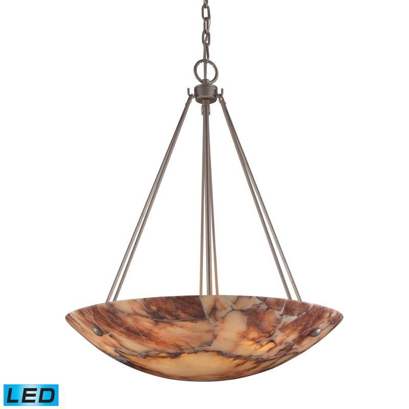 "Elk Lighting 9025/6-LED Marbled Stone 6 Light 24"" Wide LED Pendant"