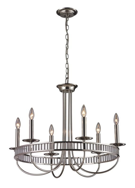 Elk Lighting 10231/6 6 Light Chandelier from the Braxton Collection