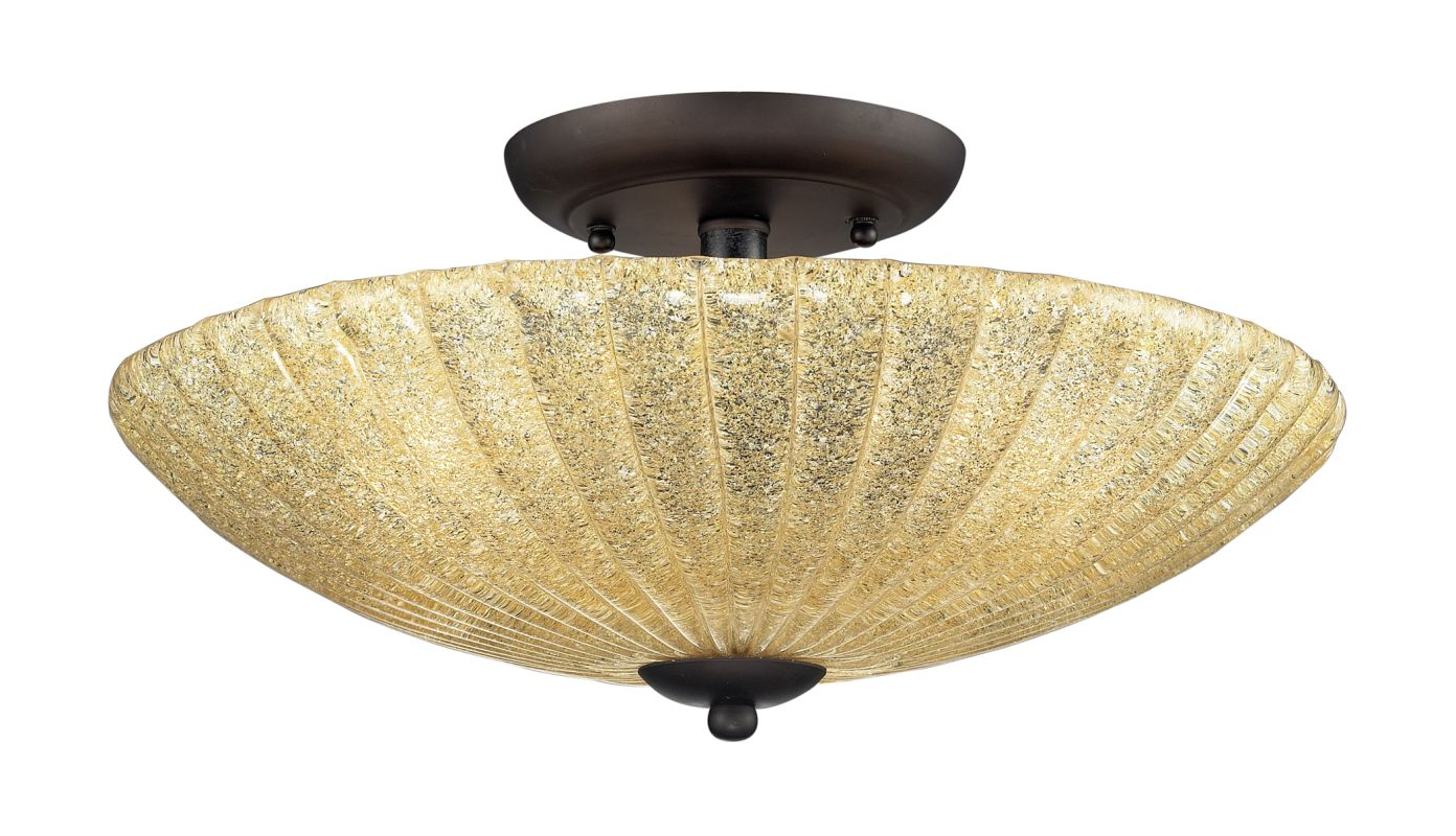 Elk Lighting 10281/3 3 Light Semi-flush Ceiling Fixture from the