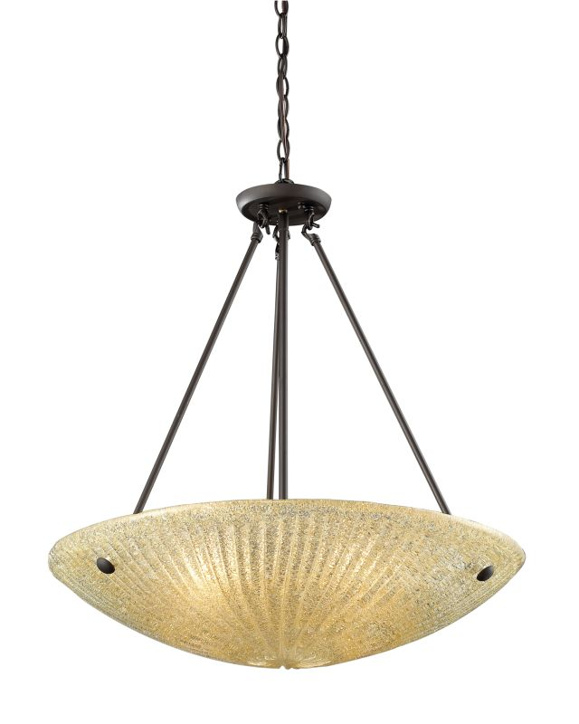"Elk Lighting 10282/4 Luminese 4 Light 24"" Wide Pendant with Round"