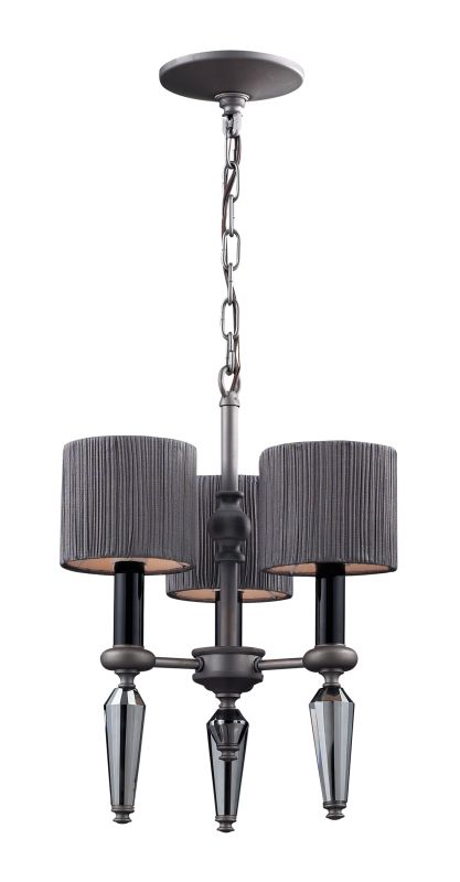 Elk Lighting 11322/3 Graphite Contemporary Beaumont Chandelier
