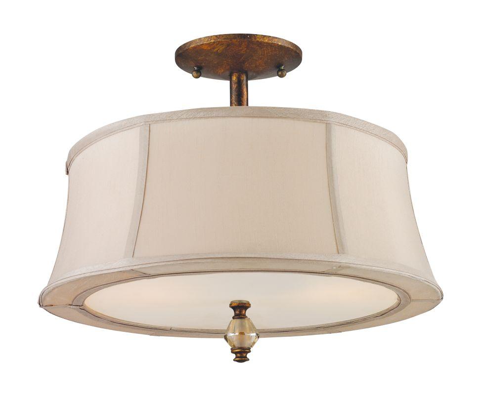Elk Lighting 11331 2 Spanish Bronze 2 Light Semi Flush