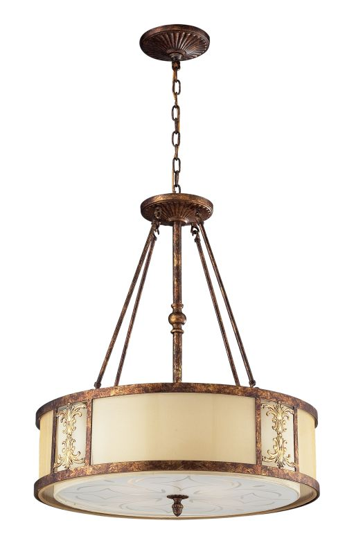 Elk Lighting 11342/4 4 Light Pendant from the Frederick Collection
