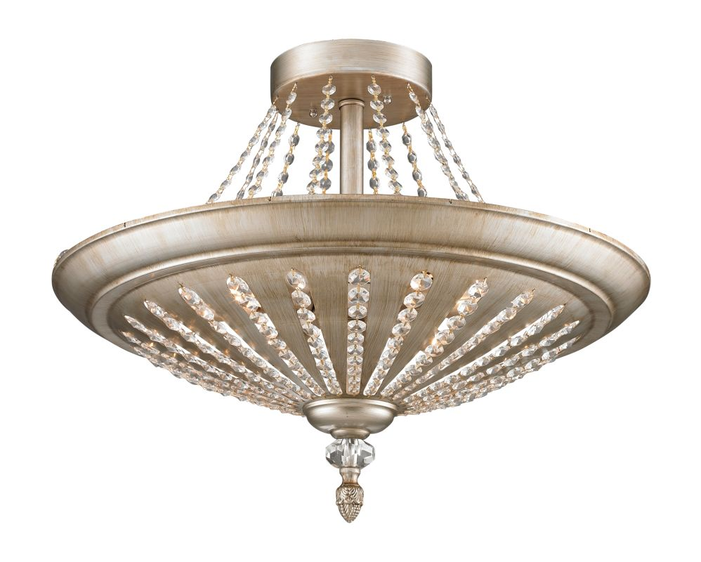 Elk Lighting 11360/9 9 Light Semi-flush Ceiling Fixture from the Renee Sale $668.00 ITEM: bci1934037 ID#:11360/9 UPC: 748119033082 :