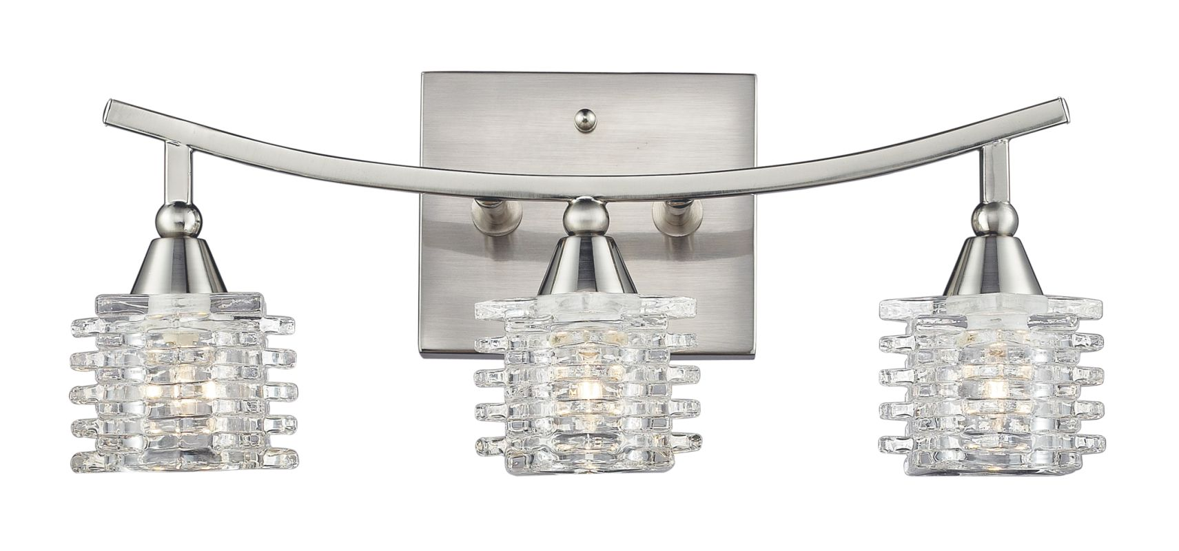 Shop Portfolio 3 Light Vassar Brushed Nickel Bathroom: Elk Lighting 17131/3 Satin Nickel Matrix 3 Light 15