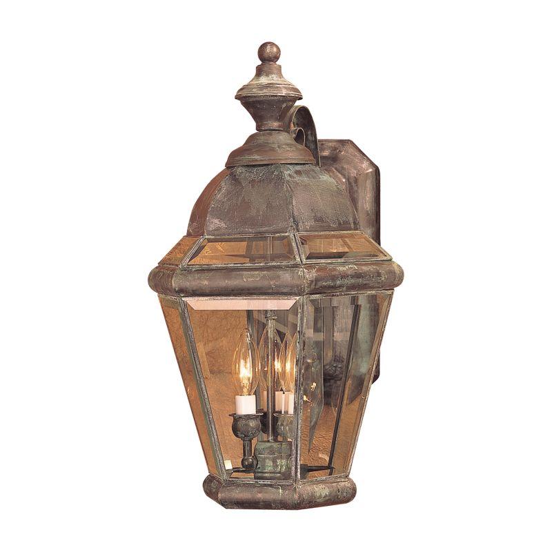 Elk Lighting 3092-C Newington Charcoal 3 Light 22 Inch Tall Outdoor