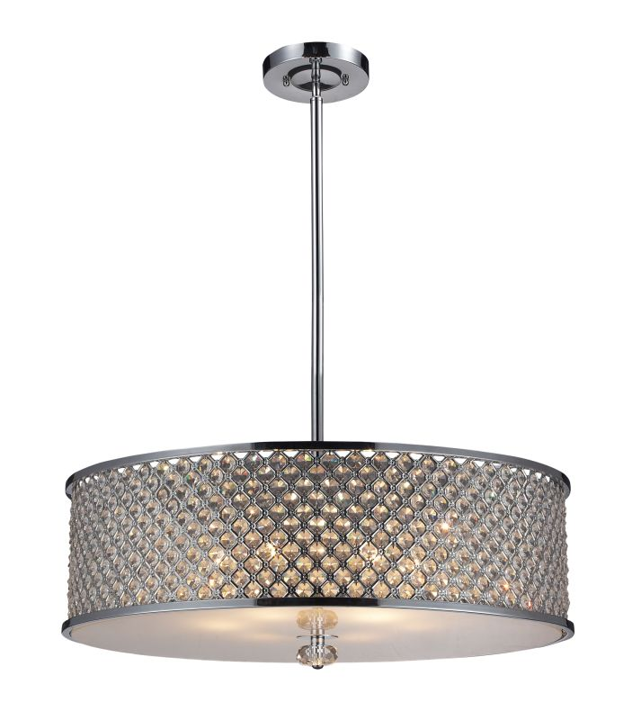 Elk Lighting 31106/6 Polished Chrome Contemporary Genevieve Pendant Sale $1058.00 ITEM: bci1934111 ID#:31106/6 UPC: 748119033181 :