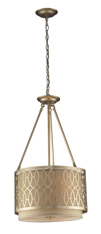 Elk Lighting 31125/3 3 Light Pendant from the Estonia Collection Aged