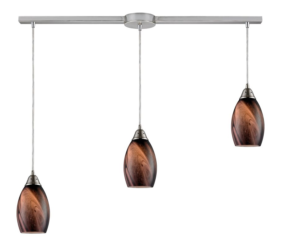 """Elk Lighting 31133/3L Formations 3 Light 36"""" Wide Linear Pendant with"""