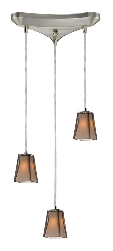 "Elk Lighting 31143/3 Cubico 3 Light 10"" Wide Multi Light Pendant with"