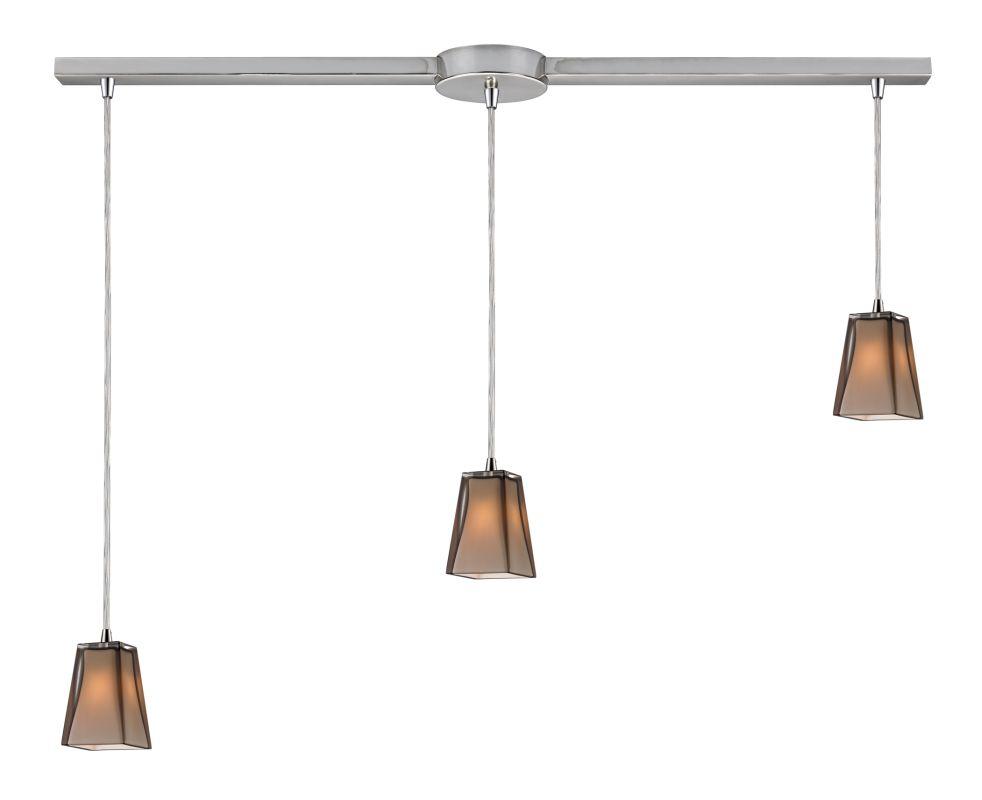 "Elk Lighting 31143/3L Cubico 3 Light 36"" Wide Linear Pendant with"