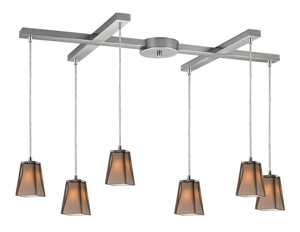"Elk Lighting 31143/6 Cubico 6 Light 33"" Wide Multi Light Pendant with"