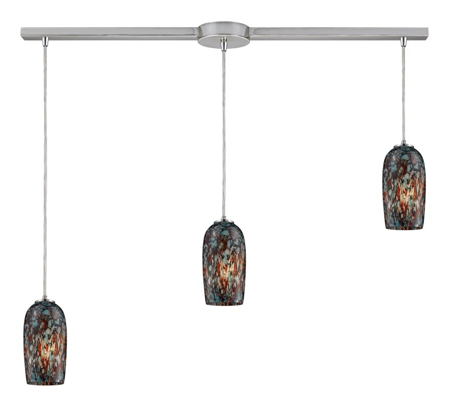 "Elk Lighting 31147/3L Collage 3 Light 36"" Wide Linear Pendant with"