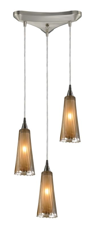 "Elk Lighting 31148/3 Encapsulate 3 Light 10"" Wide Multi Light Pendant"