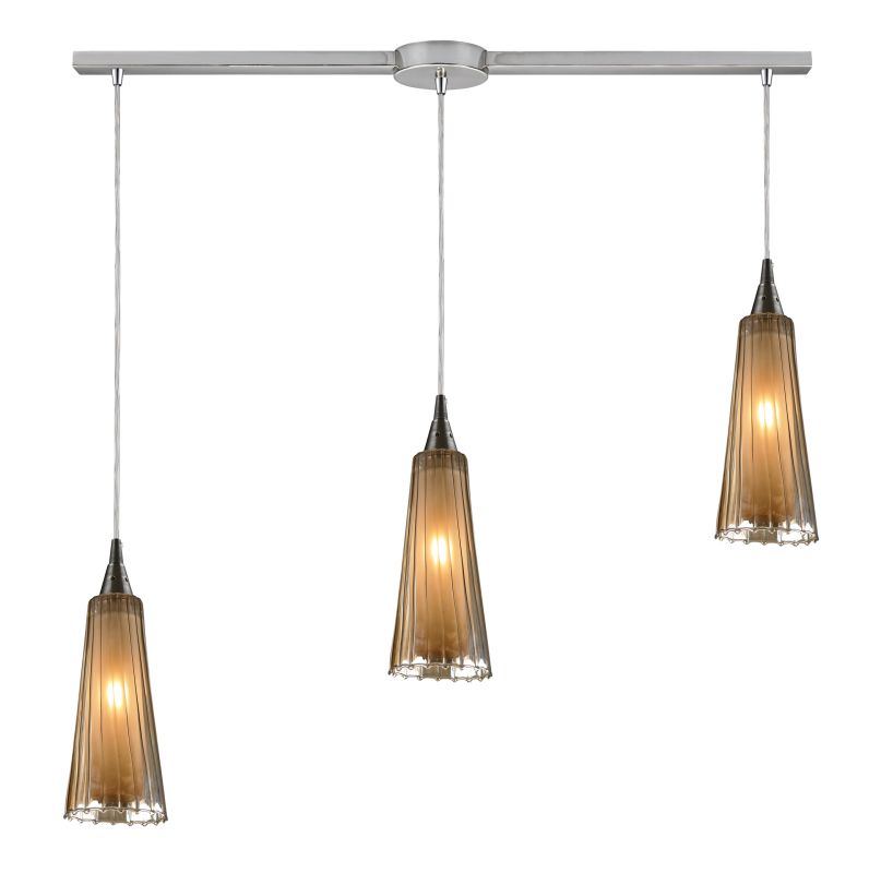 "Elk Lighting 31148/3L Encapsulate 3 Light 36"" Wide Linear Pendant with"