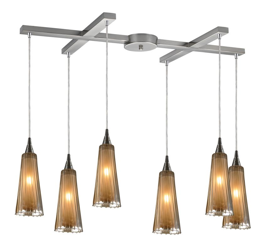 "Elk Lighting 31148/6 Encapsulate 6 Light 33"" Wide Multi Light Pendant"