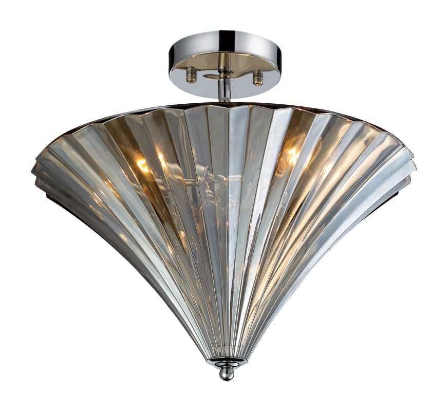 Elk Lighting Fans: Elk Lighting 31253/3 Polished Chrome 3 Light Flushmount