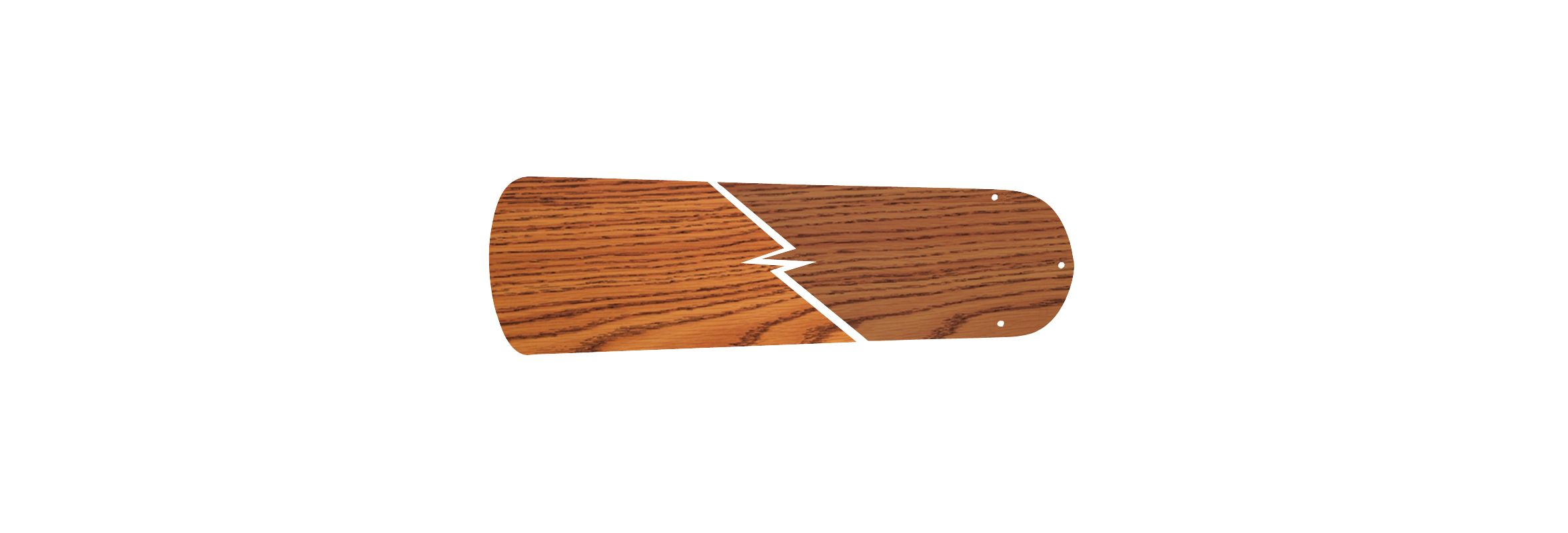 "Ellington Fans BELN44 5 Blade Pack - 44"" Reversible Dark Oak / Oak"