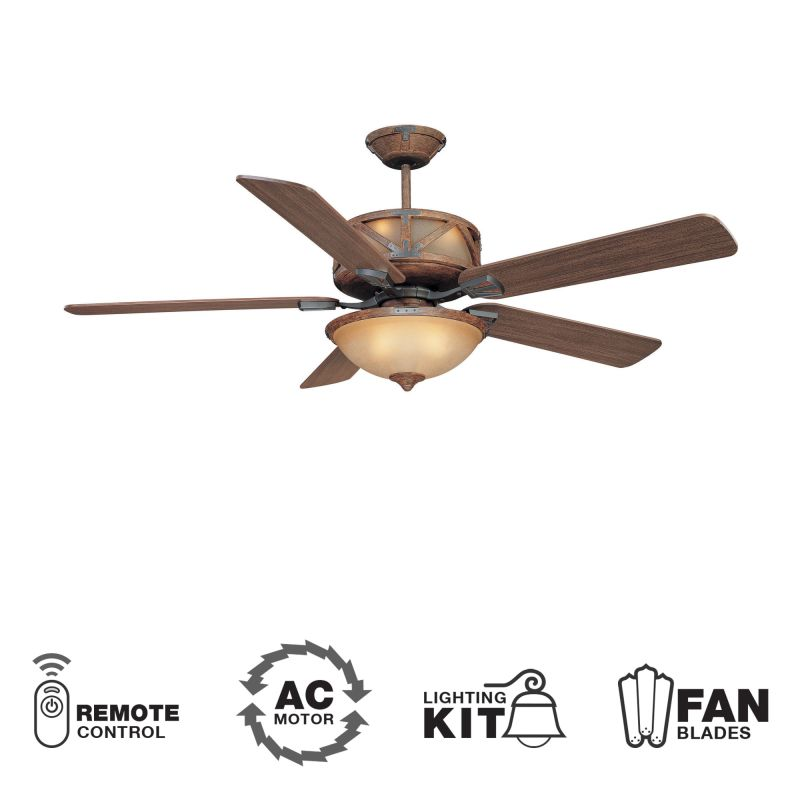 "Ellington Fans Deer Lodge Classic 60"" 5 Blade Indoor Ceiling Fan -"
