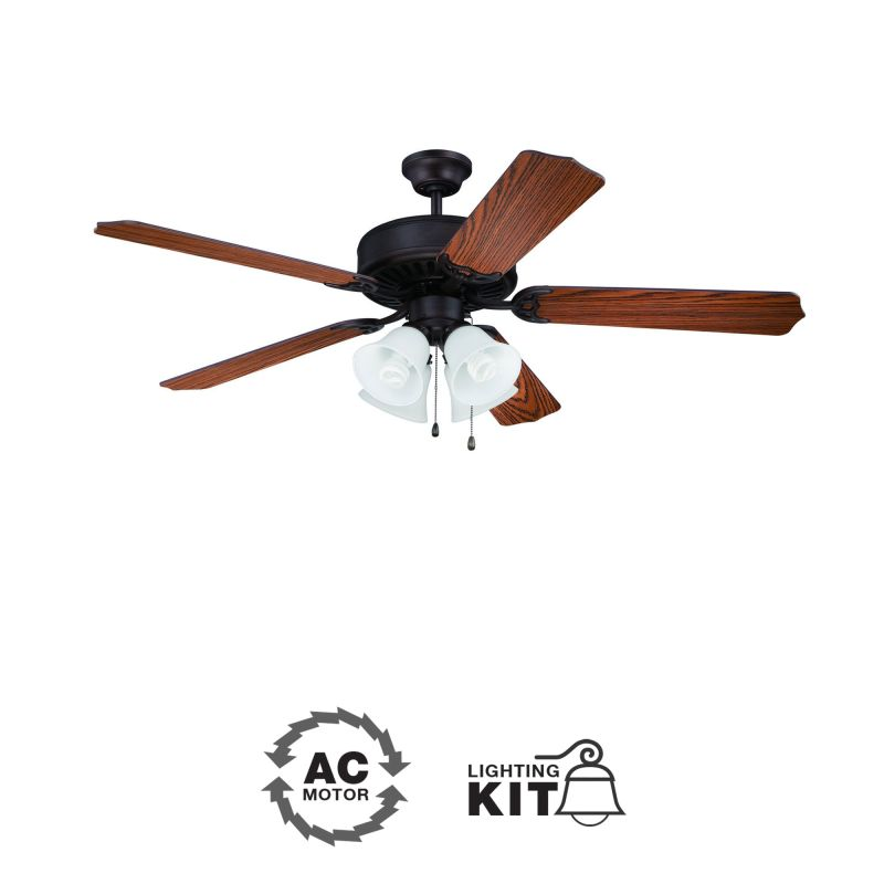"Ellington Fans E203 Pro 52"" 5 Blade Indoor Ceiling Fan - Light Kit"