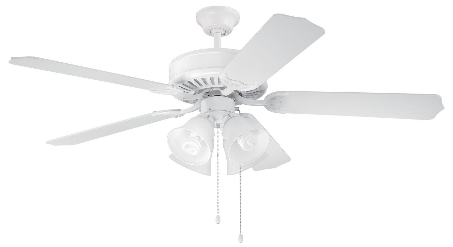 Ellington Fans E203 Pro 52&quote 5 Blade Indoor Ceiling Fan - Light Kit