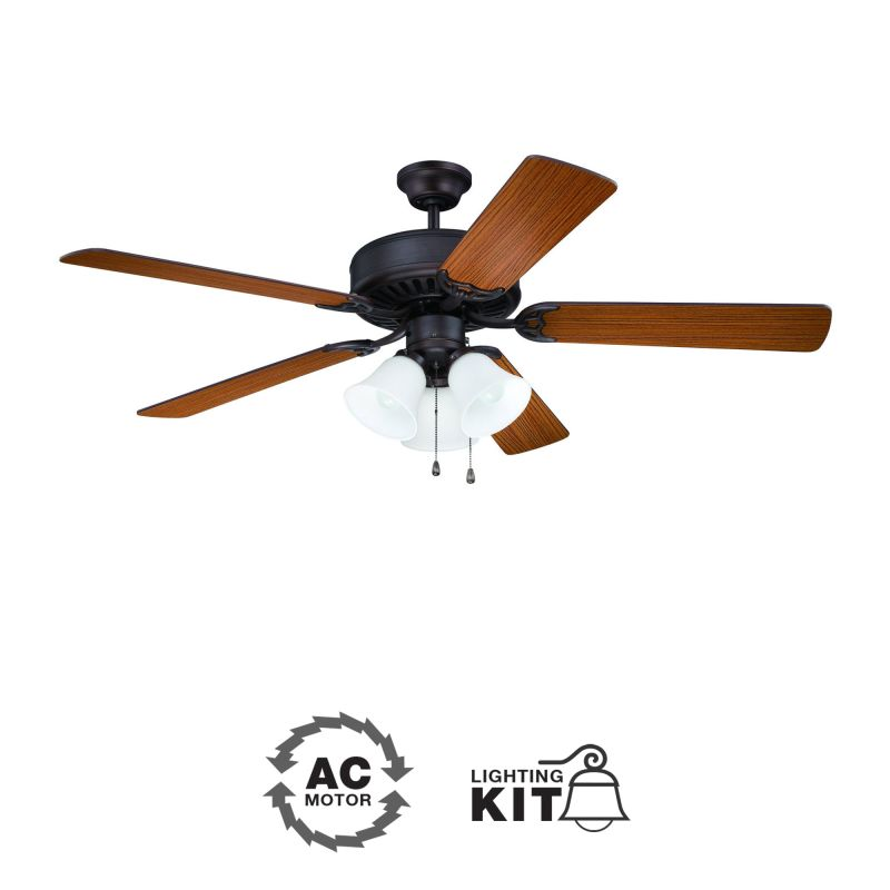 "Ellington Fans E205 Pro 52"" 5 Blade Indoor Ceiling Fan - Light Kit"