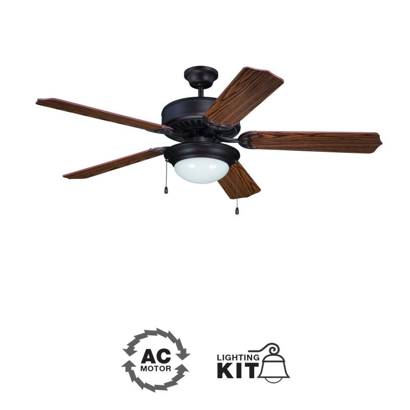 "Ellington Fans E209 Pro 52"" 5 Blade Indoor Ceiling Fan - Light Kit"