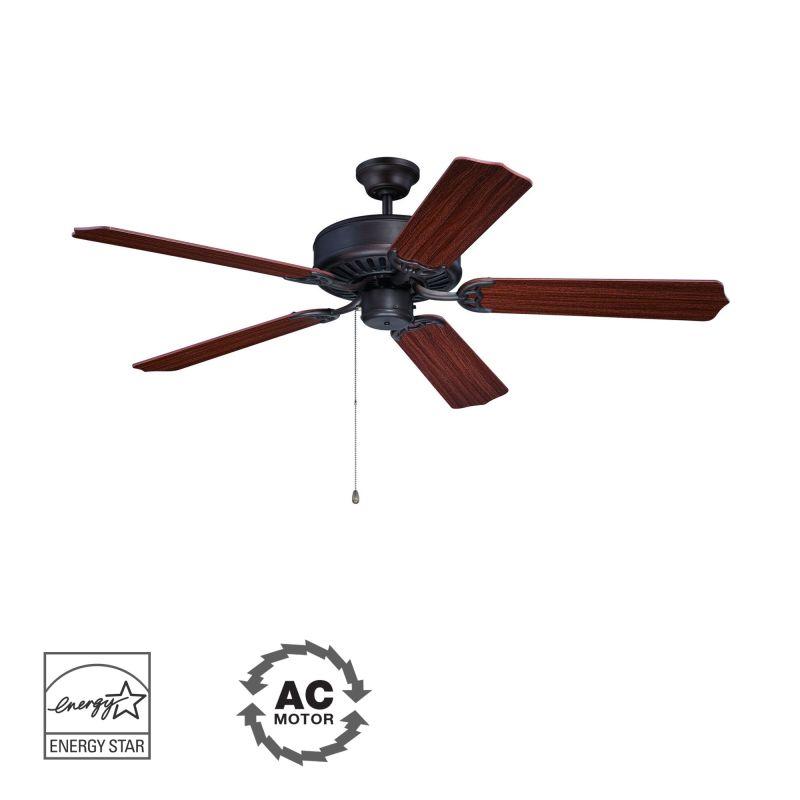 "Ellington Fans E52 Pro 52"" 5 Blade Indoor Ceiling Fan Aged Bronze"