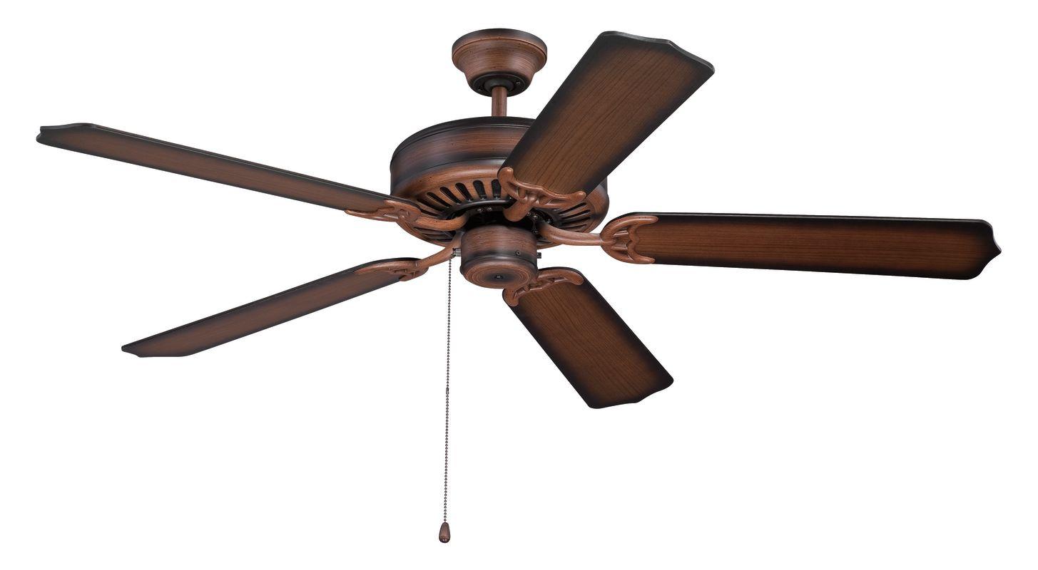 """Ellington Fans E52 Pro 52"""" 5 Blade Indoor Ceiling Fan Biscay Walnut"""